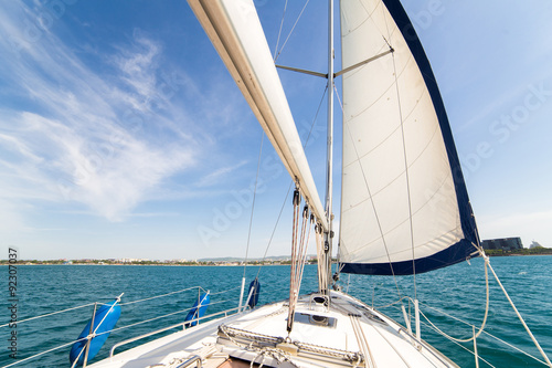 Poster Yatch sail and desk