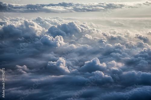 Beautiful blue sky background  - 92314272