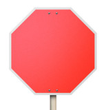 Stop Red Road Sign 3d Background Blank Copy Space