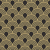Fototapety Seamless antique palette simple art deco wave scales pattern vector