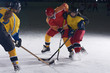 teen ice hockey sport  players in action