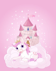 Sky Castle and Unicorn