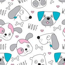 Jednolite wzór pies - ilustracji wektorowych