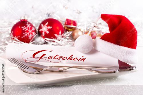 weihnachtsgutschein selber machen