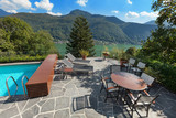 beautiful terrace with swimming pool - 92365233