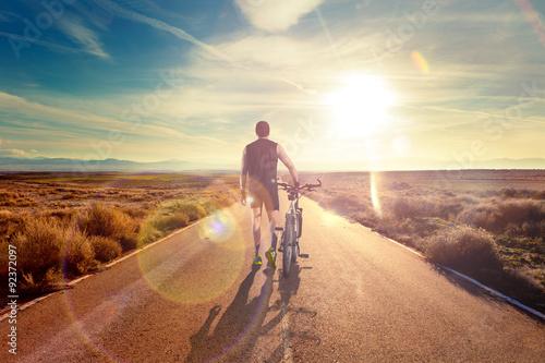 Poszter Bicicleta y aventuras, estilo de vida