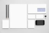 Fototapety Mock-up business branding template on gray background.