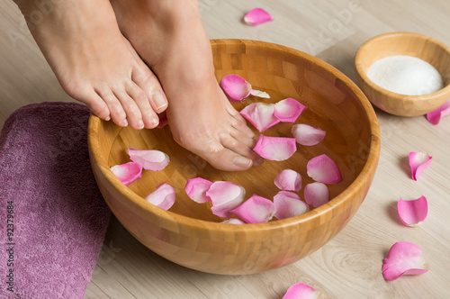 Pedicure at spa center