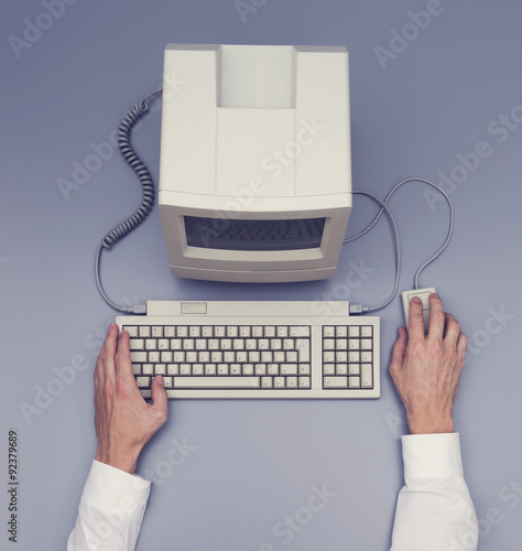 Retro computer - top view