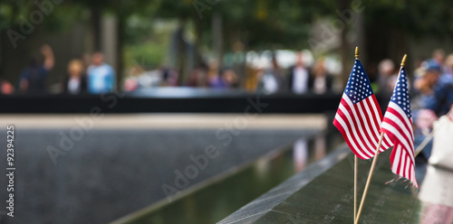Poster Memorial at World Trade Center Ground Zero