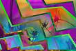 Сияющие цветные зигзаги