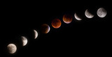 Fototapety Phases of Supermoon Lunar Eclipse on September 27 2015