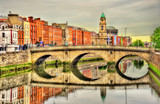 View of Mellows Bridge in Dublin - Ireland poster