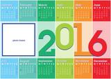 calendar 2016 stripes