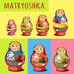 A set of matryoshka - Russian folk toy