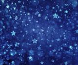 Fototapety Stars on blue background. Navy blue background with white stars. Glittering stars at night. Stars shining in sky.
