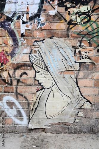 obraz lub plakat Street-Art in der Innenstadt von Berlin