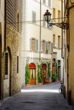 The Via Lambertesca street at historic center of Florence, Italy