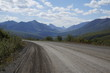 Scenic Dempster Highway in Yukon Territory, Canada.  Crosses the Arctic Circle