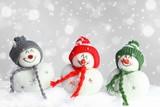Fototapety lustige Schneemännlein :-)