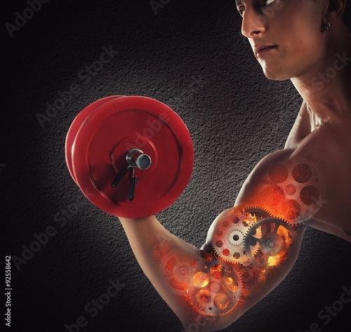 Fototapeta Gear muscles