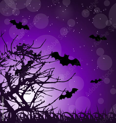 Foto op Canvas Violet Dark Scary Background
