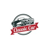 Classic Car Vector Template