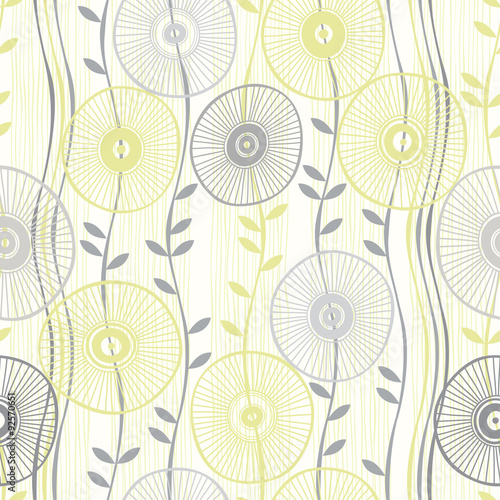 Tapeta Seamless pattern of abstract flowers.