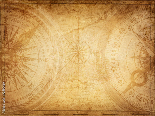 Poster Schip Pirate and nautical theme grunge background