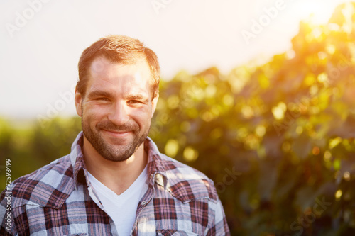 Portrait of a young winemaker