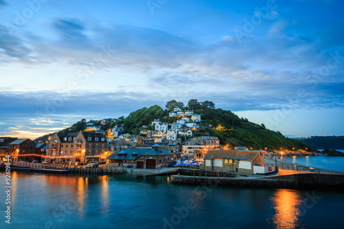 Looe bei Nacht, Cornwall - England Poster