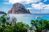 Fototapety Picturesque view of the mysterious island of Es Vedra. Ibiza