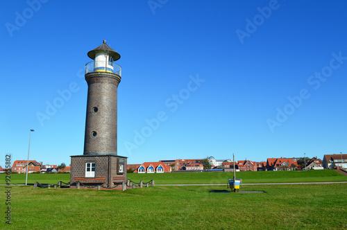 Fotobehang Noordzee Leuchtturm in Juist