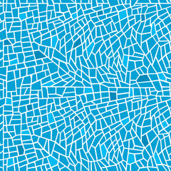 Seamless mosaic background in blue tones/Seamless colorful mosaic background in blue colors