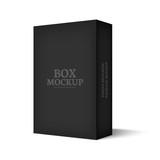 Fototapety Realistic mockup black box isolated on white background.