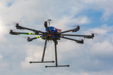 Multicopter in flight poster