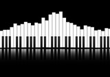 Fototapety Vector : Piano keyboard equalizer concept background