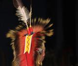 Native American Feathered Headdress at Powwow