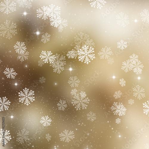 Naklejka Golden Christmas background