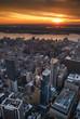 New York City Hudson River sunset