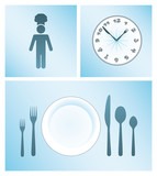Dinner and Cooking Vector Icon Set - 92702201