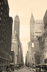 New York City Manhattan street view black and white © rabbit75_fot