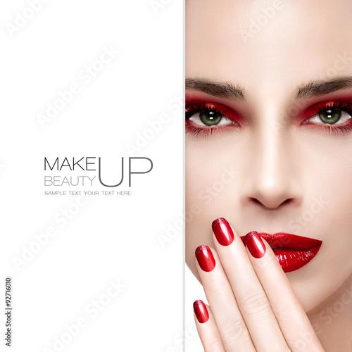 Obraz na Szkle Beauty and Makeup concept. Fashion Nail Art