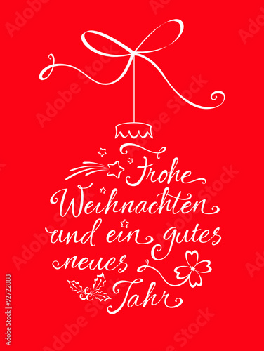 weihnachtskugel typographie frohe weihnachten. Black Bedroom Furniture Sets. Home Design Ideas