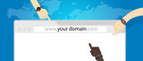 domain name web business internet concept url