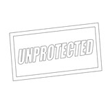 unprotected Monochrome stamp text on white poster
