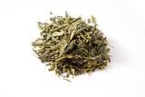 Japanischer Sencha Tee, weisser Untergrund poster