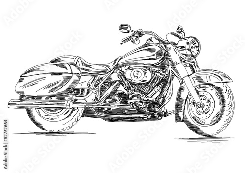 Detailed Bike Handmade Vector Illustration