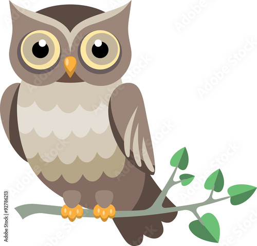 Keuken foto achterwand Uilen cartoon decorative vector owl