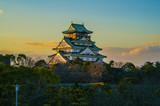 Amazing sunset Image of Osaka Castle - 92794254
